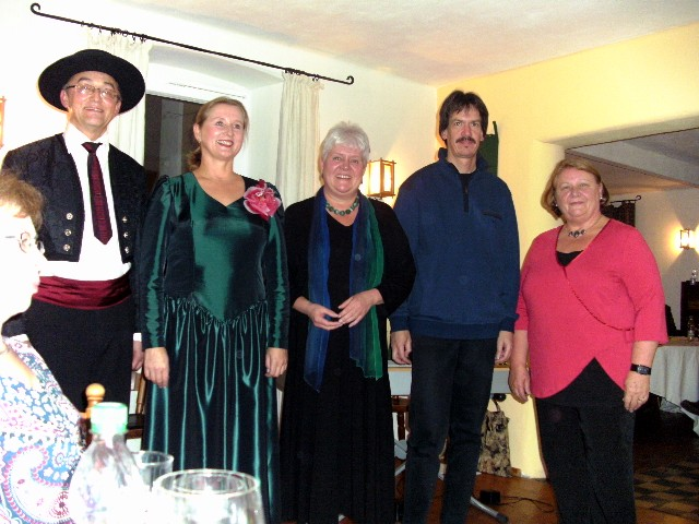 Wladimir Polatynski, Zene Kruzikaite, Eva Gräber, Jens Gottlöber und Moderatorin Gudrun Spatschek (von links)
